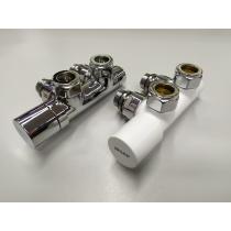 Kit De Válvula Bitubo 5 cm entre ejes a escuadra Para Toallero Universal
