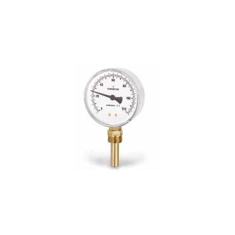 TERMOMETRO CONEXIÓN RADIAL CON VAINA TR80 Ø 80 0 / 120ºC 50 MM