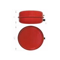 "VASO DE EXPANSION CIRCULAR CP387/10 10ltrs. 3/4"" 387x128mm WATTS"
