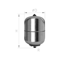 VASO EXPANSION INOXIDABLE 50AMR 50L 10 BAR ROSCA 1""