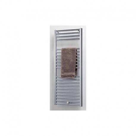 Radiador toallero acero inoxidable mate tora 1040 x 432 for Toallero acero inoxidable